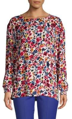 Love Moschino Floral Long-Sleeve Top