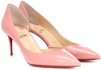 faa782ccb40cc Christian Louboutin Pink Patent Leather Pumps - ShopStyle