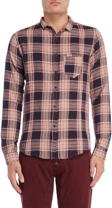 Imperial Star Woven Plaid Pocket Shirt