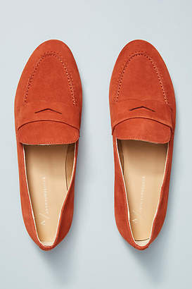 Anthropologie Suede Loafers