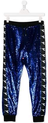 Diadora Junior TEEN sequinned logo track pants