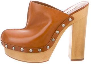 Michael Kors Leather Platform Clogs $155 thestylecure.com