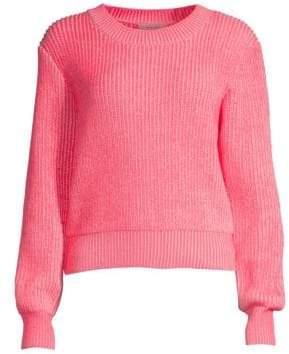 Milly Women's Plaited Knit Crewneck Sweater - White Multi - Size XS