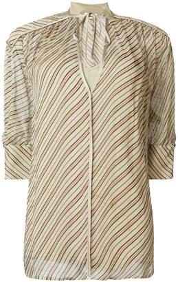By Malene Birger V-neck striped blouse