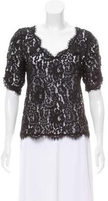 Joie Lace Short Sleeve Top