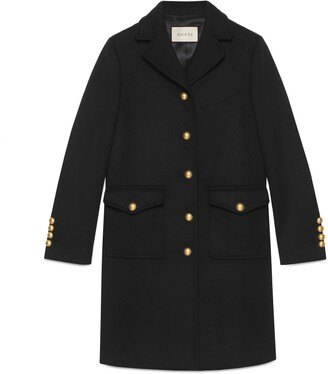 Gucci Wool coat with Double G