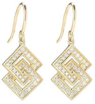 Isa Belle DANA REBECCA 14K Yellow Gold Diamond Accented Isabelle Brook Drop Earrings - 0.26 ctw