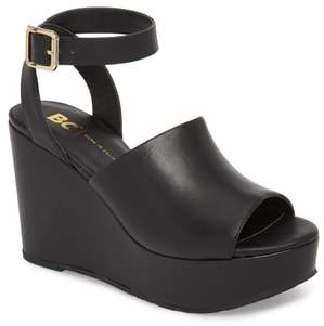 BC Footwear Admit One Platform Wedge Sandal