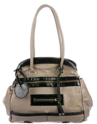 Gustto Leather Zip Shoulder Bag
