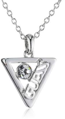 GUESS Iconically Women's Necklace Rhodium-Plated Stainless Steel with Crystals 40 cm UBN71317