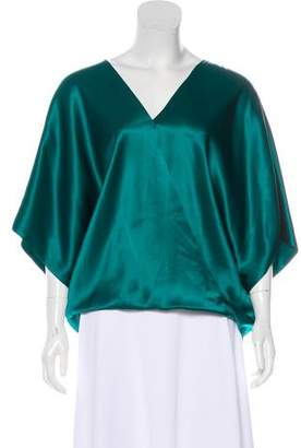 Lanvin Draped Silk Blouse