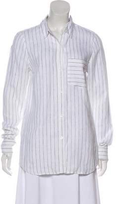 MICHAEL Michael Kors Linen Button-Up Top
