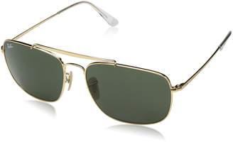 Ray-Ban Men's Steel Man Sungkass Square Sunglasses, Black