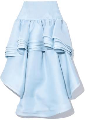 Marc Jacobs Layered Hi-Low Skirt in Pale Blue