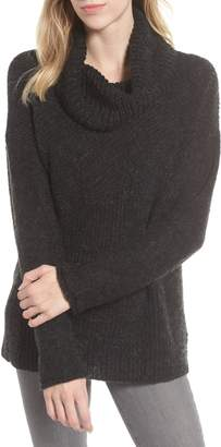Caslon Mix Stitch Funnel Neck Wool Blend Sweater