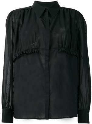 Rochas sheer ruffle blouse