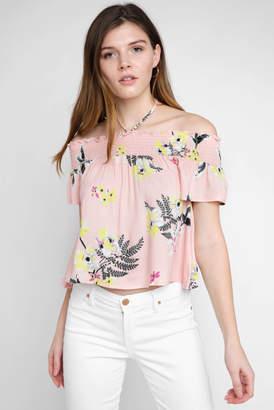 BB Dakota Jordyn Golden State Floral Off Shoulder Top