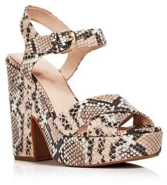 Kate Spade Women's Grace Snake Print Platform Sandals