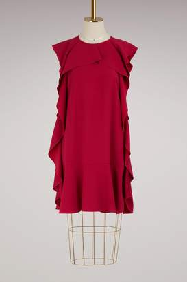 RED Valentino Ruffled crepe satin dress