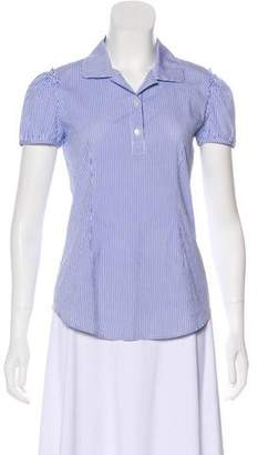 Theory Striped Short Sleeve Top