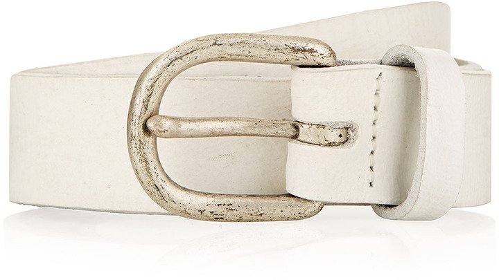 Topman White Washed Leather Belt