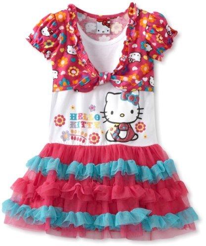 Hello Kitty Girls 2-6X Tutu Dress With Shrug