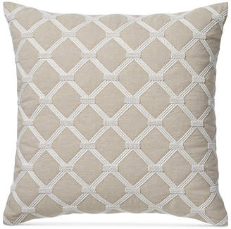"Hotel Collection Diamond Embroidered 20"" Square Decorative Pillow Bedding"