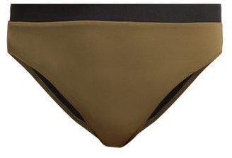 Solid & Striped The Christie Bi Colour Bikini Briefs - Womens - Khaki