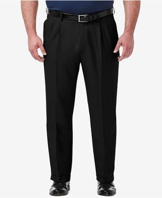 4dc83572074 Haggar Men Big   Tall Premium Comfort Stretch Classic-Fit Solid Pleated Dress  Pants