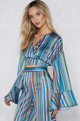 Nasty Gal Jump the Line Striped Crop Top