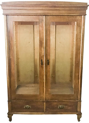 One Kings Lane Vintage 1930s Pine Glass Store Display Cabinet - Von Meyer Ltd.