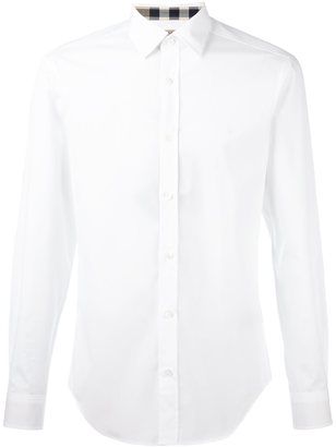 Burberry embroidered chest logo shirt $208.89 thestylecure.com