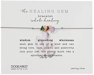 Dogeared The Healing Gem Bracelet, Whole Healing Gems On Silk w/ Accent Beads