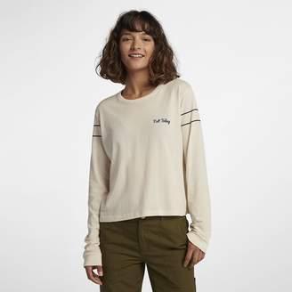 Hurley Not Today Crop Perfect Women's Long Sleeve T-Shirt