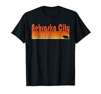 Retro 80s Style Nebraska City NE T-Shirt