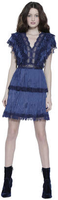Alice + Olivia LANORA PLEATED COCKTAIL DRESS