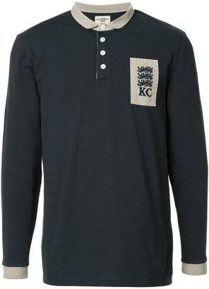 Kent & Curwen logo long-sleeve polo top