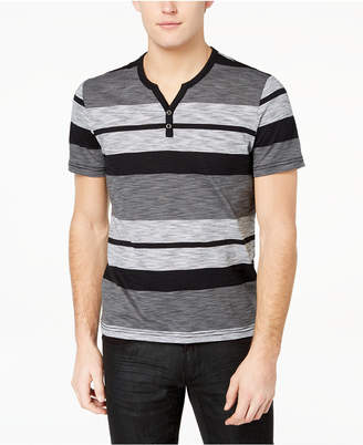 INC International Concepts I.n.c. Striped Henley T-Shirt, Created for Macy's