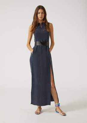 Emporio Armani Pure Silk Maxi Dress