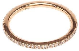 Rosa De La Cruz rose gold diamond midi ring