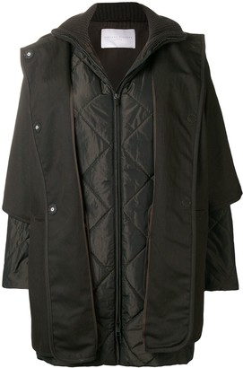 Fabiana Filippi padded sleeved coat