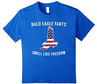 Bald Eagle Farts Smell Like Freedom - Funny 4th July T-Shirt