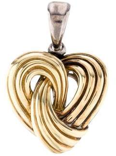 Lagos Two Tone Heart Pendant