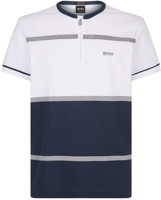HUGO BOSS Texture Zip T-Shirt