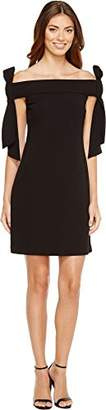 Donna Morgan Women's Off Shoulder Crepe Dress with Bow Details