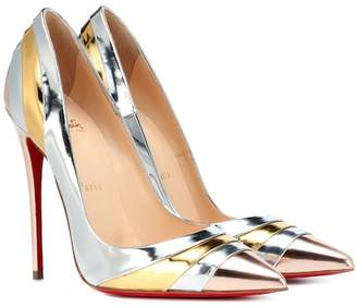 Christian Louboutin Eklectica 120 metallic leather pumps