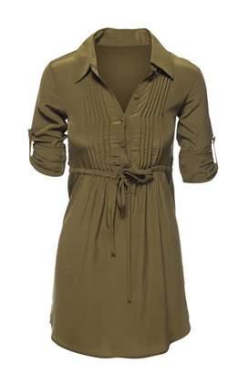 Chaser Silk Shirt Dress