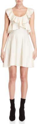 Philosophy di Lorenzo Serafini Ruffled Knit Fit & Flare Dress
