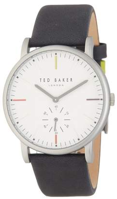 Ted Baker Men's Nolan Subeye Leather Strap Watch, 42mm