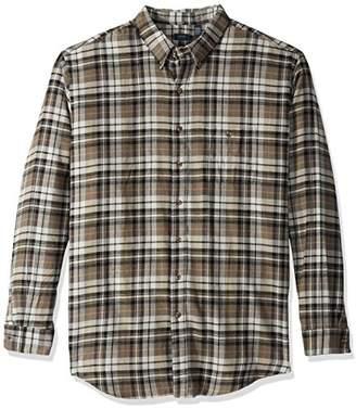 Arrow Men's Big and Tall Long Sleeve Plaid Flannel Shirt